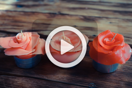 فیلم آموزش ساخت شمع به شکل گل رز