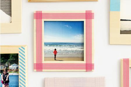 آموزش تصویری تزیین قاب عکس با چسب و رنگ 2