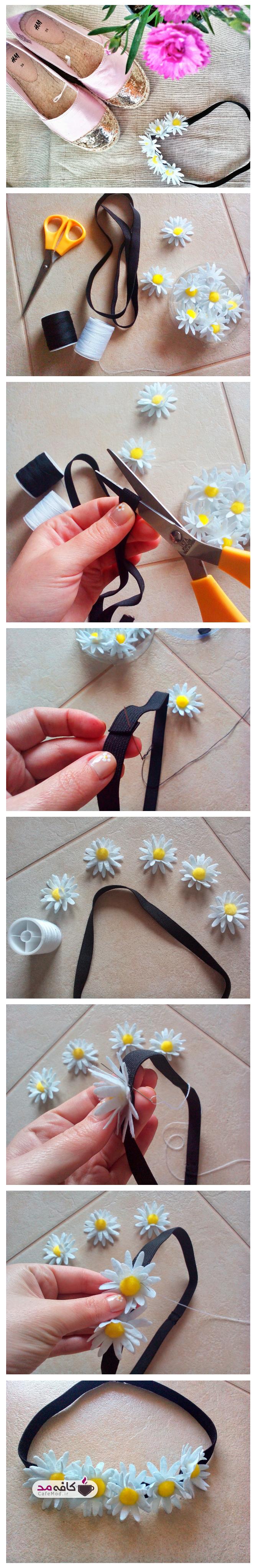 آموزش ساخت تل سر با گل
