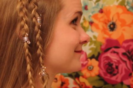 فیلم آموزش درست کردن تزیینات برای مو