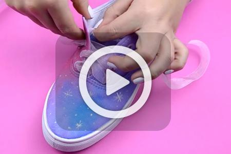 فیلم آموزش تزیین کفش با رنگ و روبان