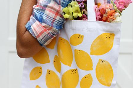 آموزش تصویری تزیین کیف خرید با طرح لیمو 2
