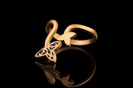 مدل انگشتر طلا برند Namzadi 10