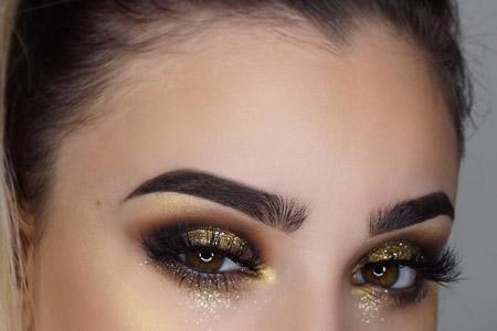 مدل آرایش چشم و صورت 10