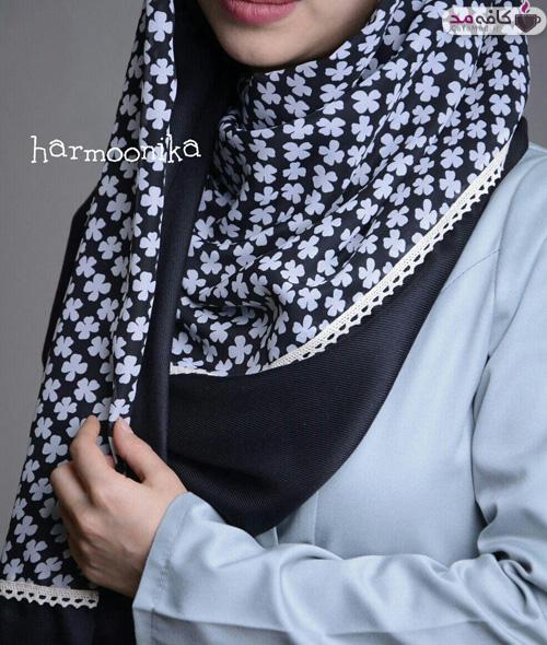 مدل شال و روسری هارمونیکا