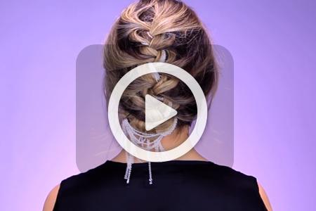 فیلم درست کردن شانه با آویز زنجیری برای بافت مو