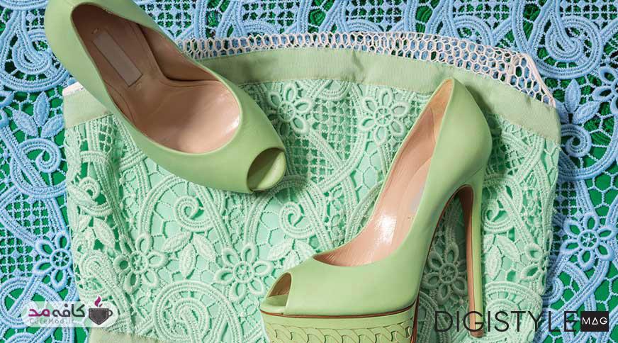 ست شیک کفش و لباس زنانه با 5 روش ساده
