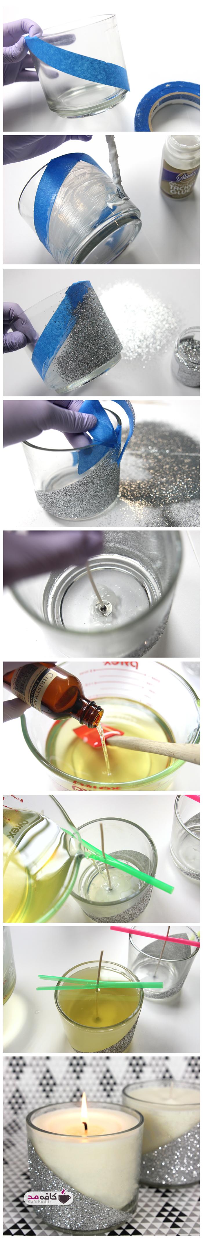 آموزش تصویری ساخت شمع اکیلی
