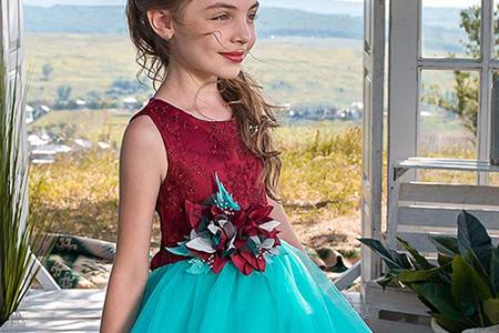 مدل لباس دخترانه مجلسی 2018 10