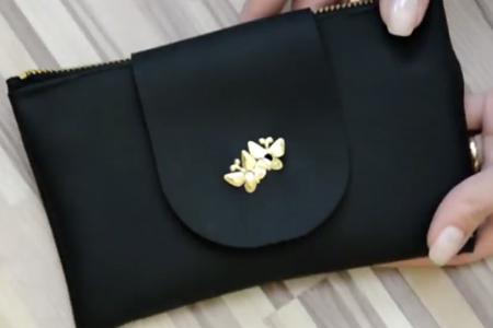 فیلم آموزش دوخت کیف کوچک چرمی