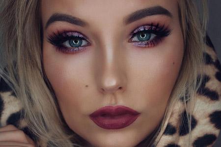 مدل آرایش صورت ظریف 11