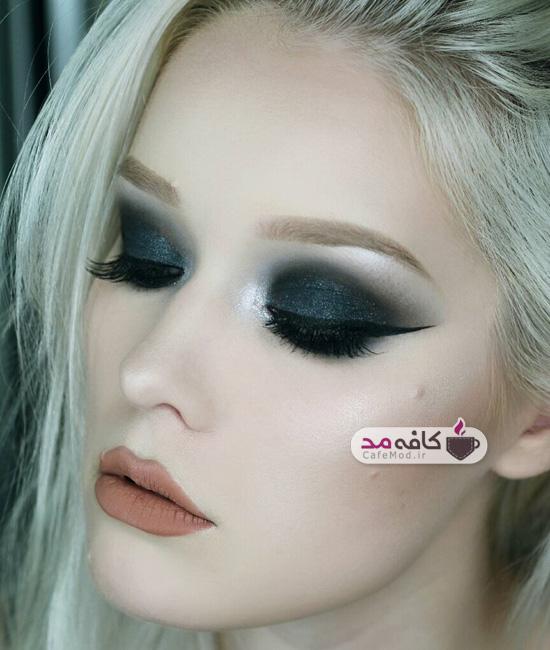 مدل آرایش صورت با پوست سفید