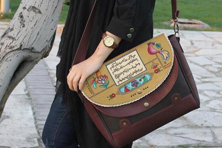 مدل شال و کیف فرفره رنگی 11