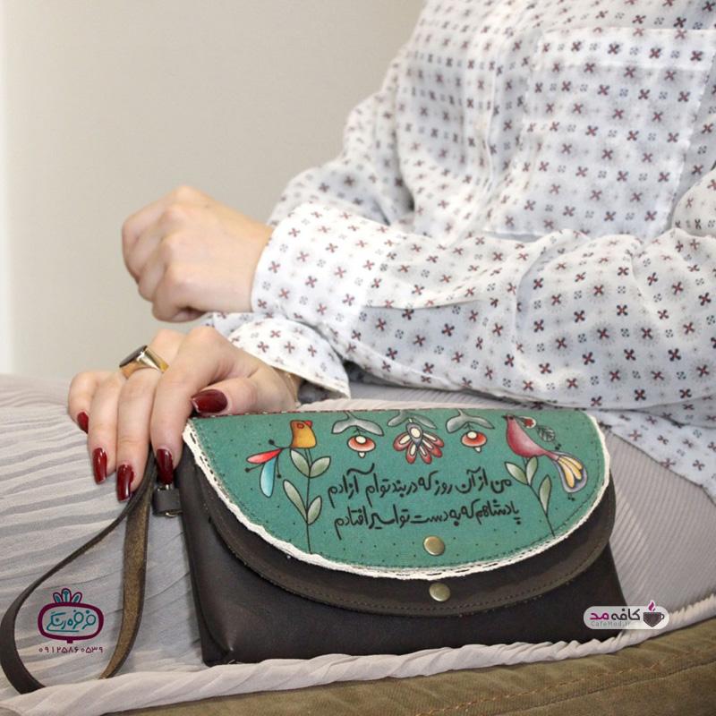 مدل شال و کیف فرفره رنگی