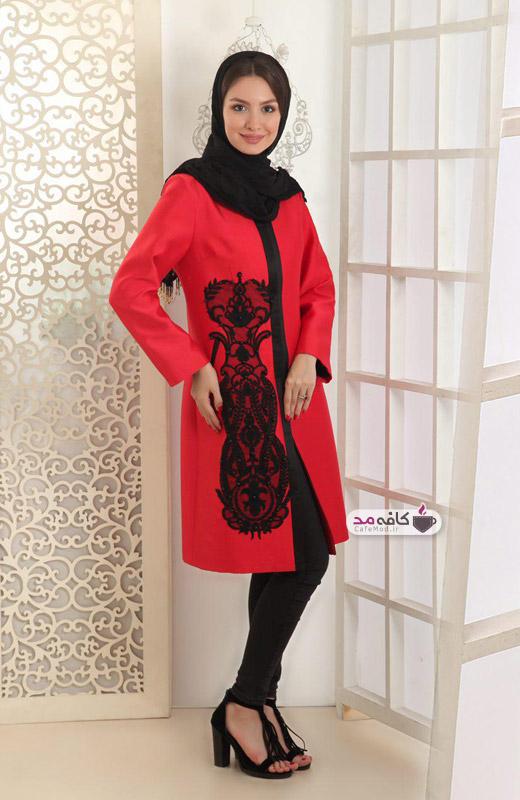 مدل مانتو مجلسی ایرانی نقره