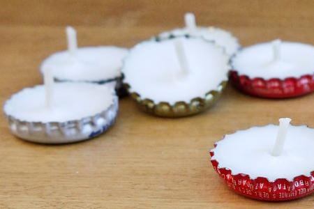 آموزش شمع سازی با درب نوشابه 2