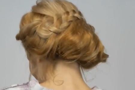 فیلم آموزش بافت مو به صورت جمع شده در پشت