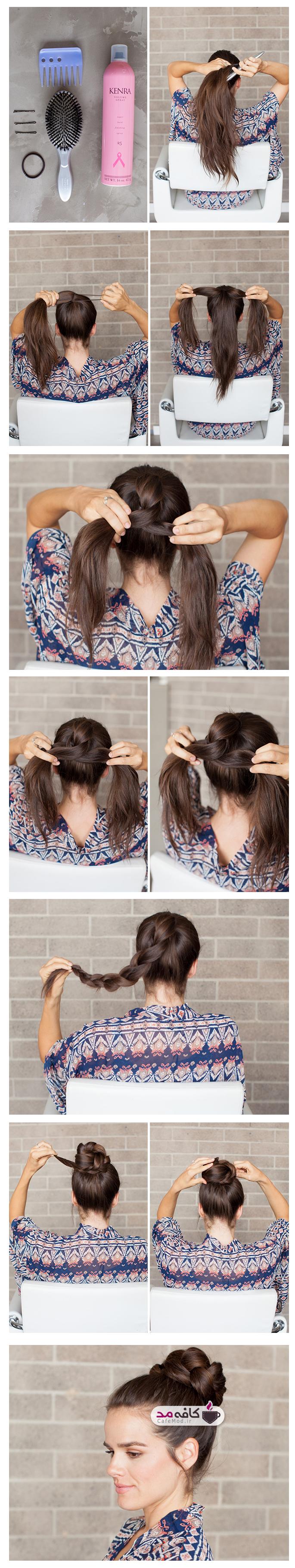 نحوه بستن مدل موی گوجه ای جدید