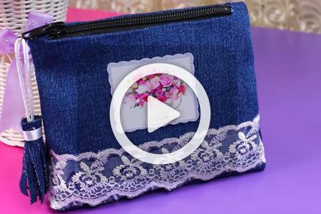فیلم دوخت کیف کوچک با جین