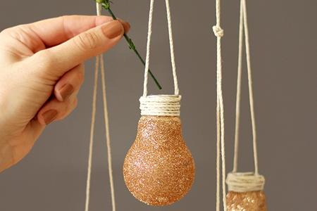 آموزش ساخت گلدان لامپی 2