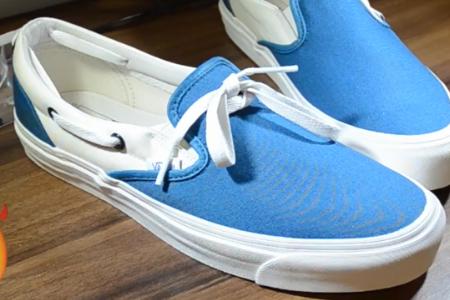 فیلم تغییر کفش ساده با بند کفش