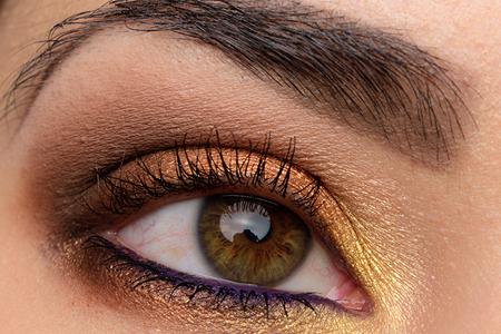 مدل آرایش چشم با رنگهای پاییزه 10