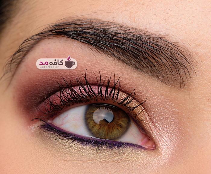 مدل آرایش چشم با رنگهای پاییزه