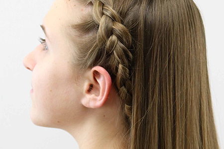 مدل های زیبا از بافت مو دخترانه 10