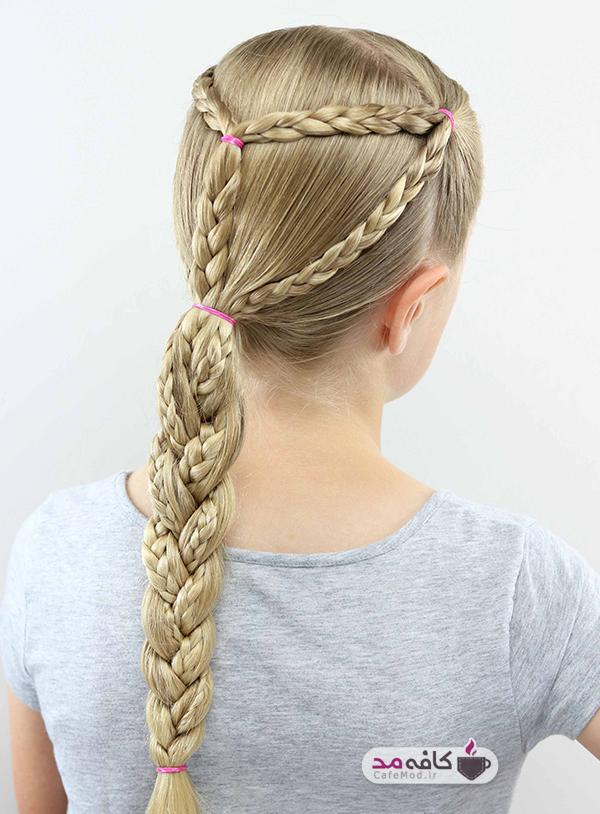 مدل های زیبا از بافت مو دخترانه