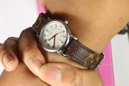 فیلم آموزش بنددار کردن ساعت با دسته کیف