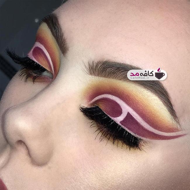 مدل های زیبا از آرایش چشم با سایه های تیره