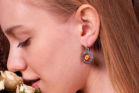 مدل های زیبا از گوشواره های دست ساز 10