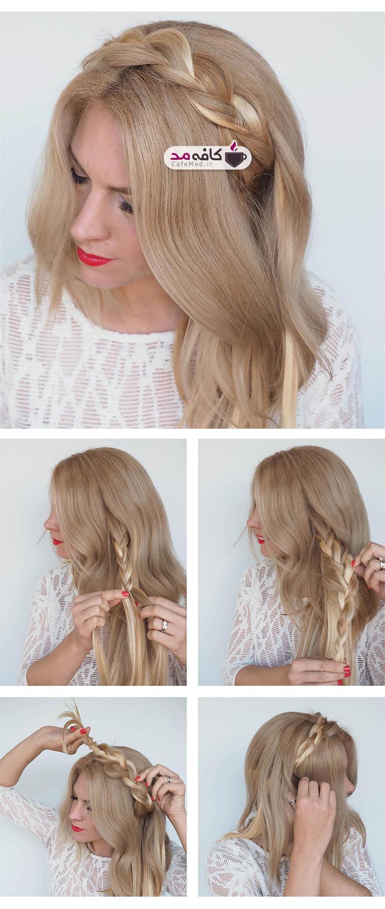 آموزش تصویری بافت موی ساده و زیبا