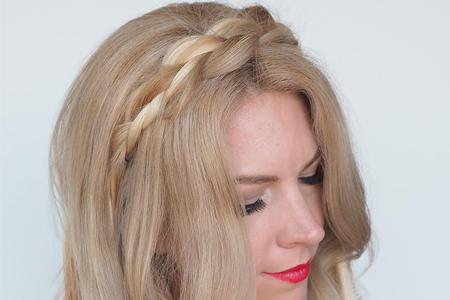 آموزش تصویری بافت موی ساده و زیبا 2