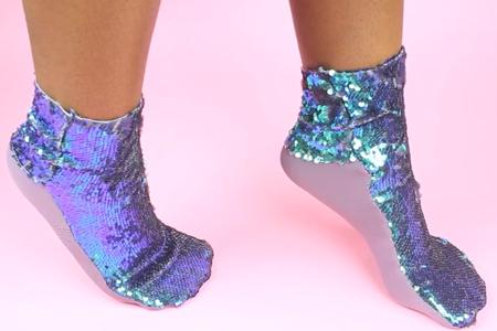 فیلم آموزش جوراب های پولکی