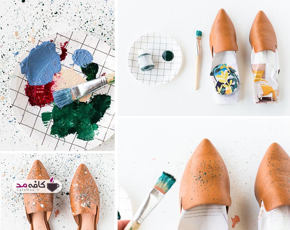 آموزش رنگ آمیزی روی کفش