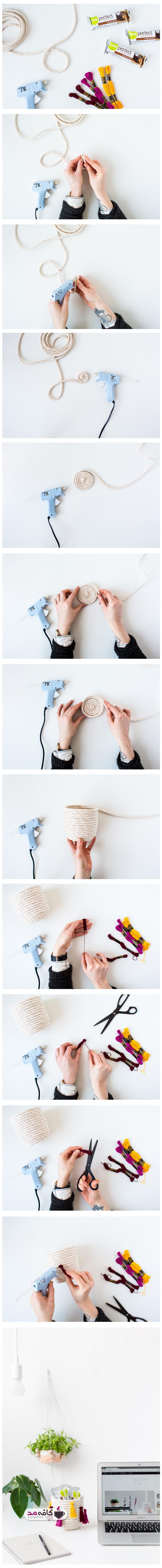 آموزش ساخت لیوان طنابی