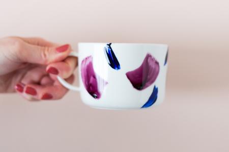 آموزش طراحی روی لیوان ساده 2