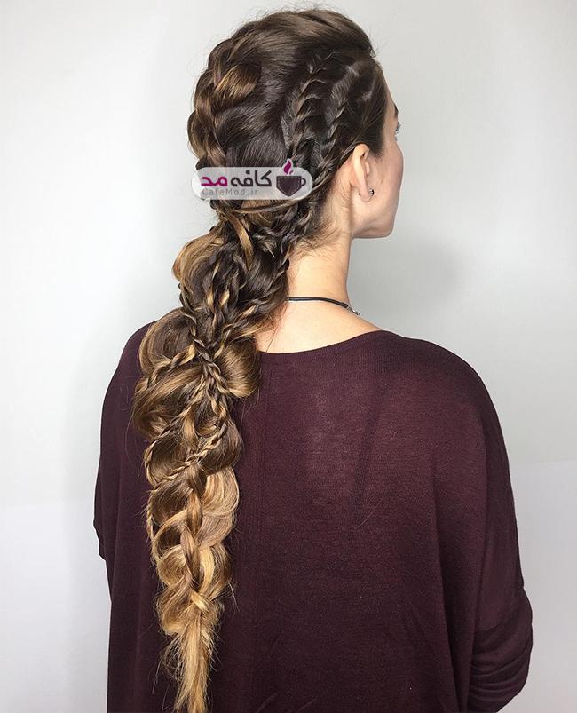 مدل های دخترانه از بافت مو و شینیون