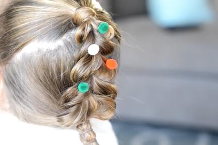 فیلم آموزش بافت موی دخترانه به شکل درخت