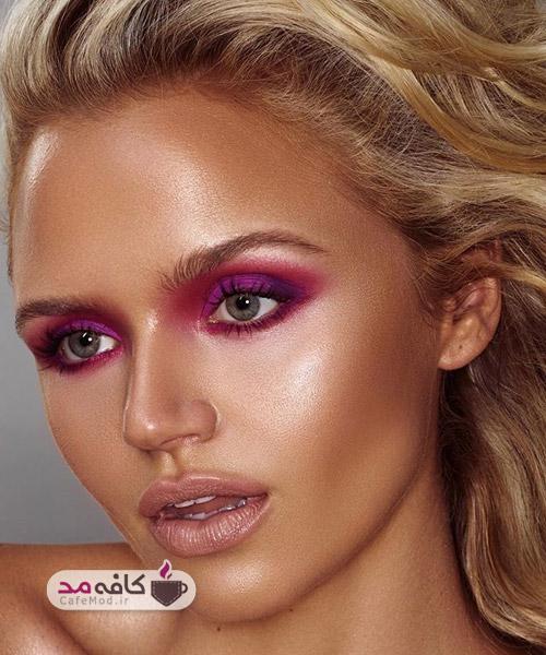 مدل آرایش برنزه صورت