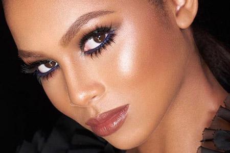 مدل آرایش برنزه صورت 9