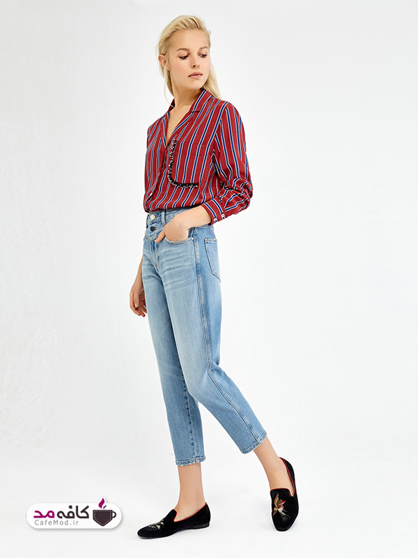 شلوار جین فاق بلند را چطور با لباس ها ست کنیم
