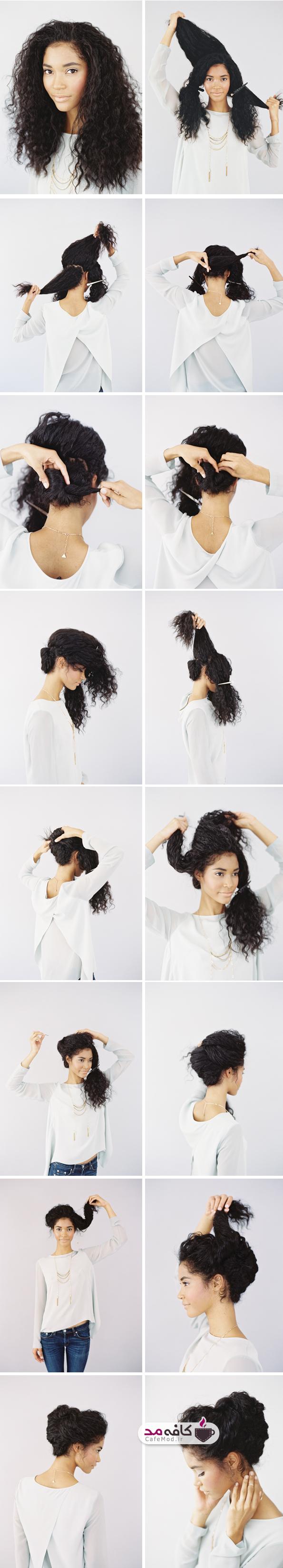 آموزش آرایش موی فرفری