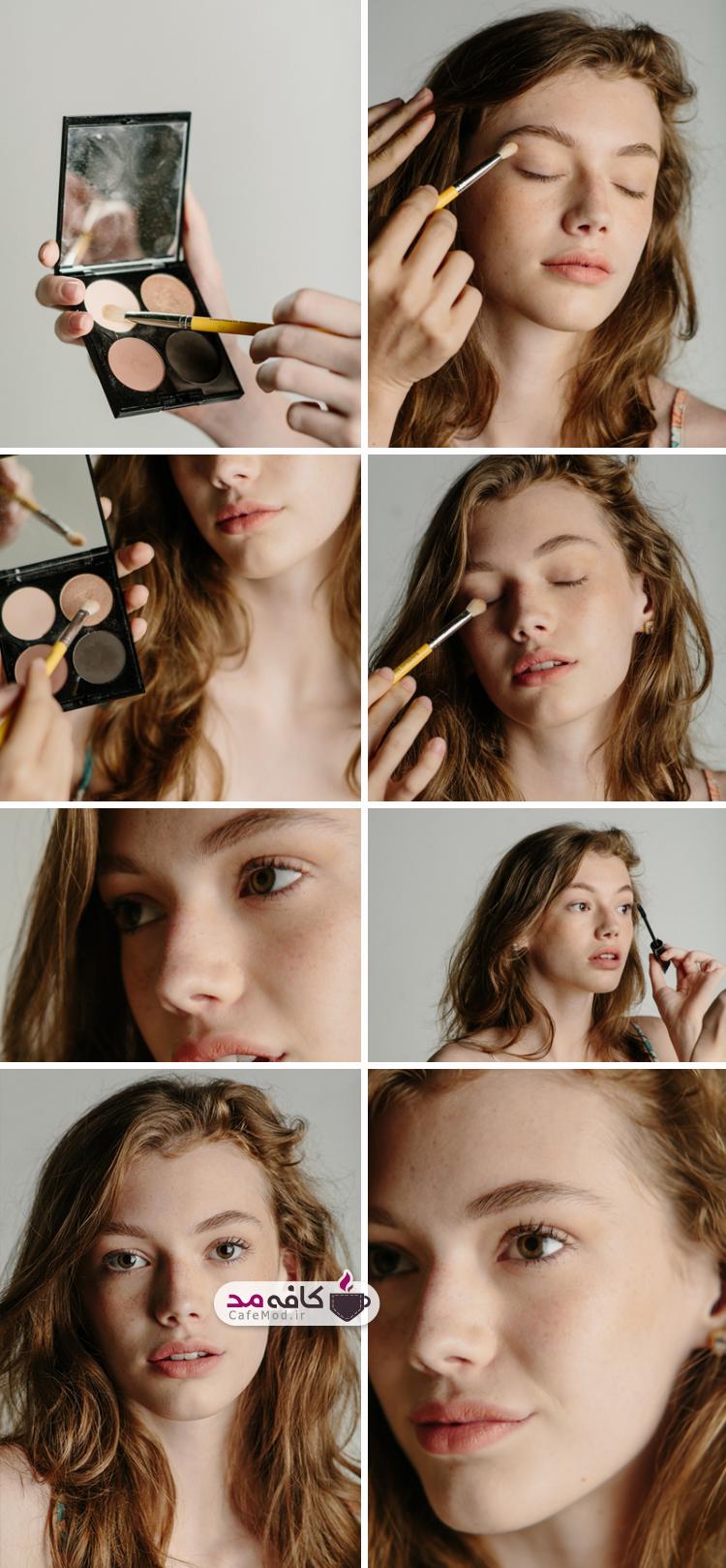 آموزش تصویری سایه چشم دخترانه