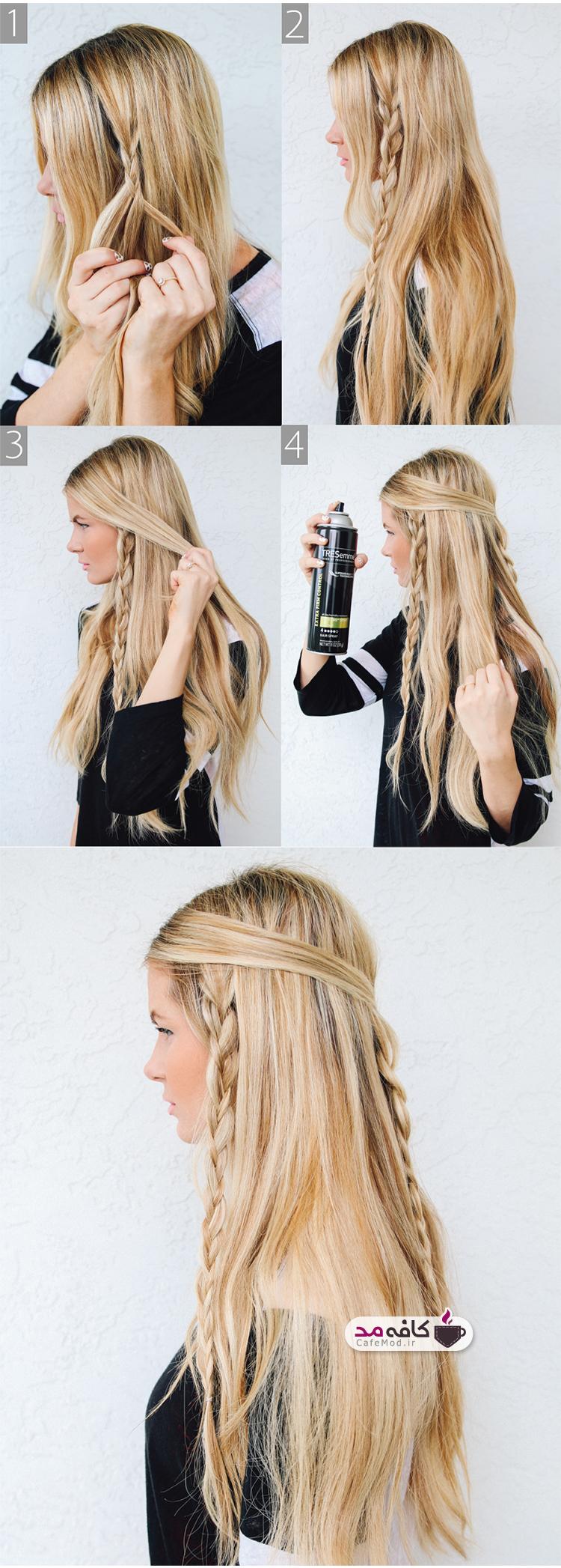 آموزش بافت موی بسیار بلند دخترانه
