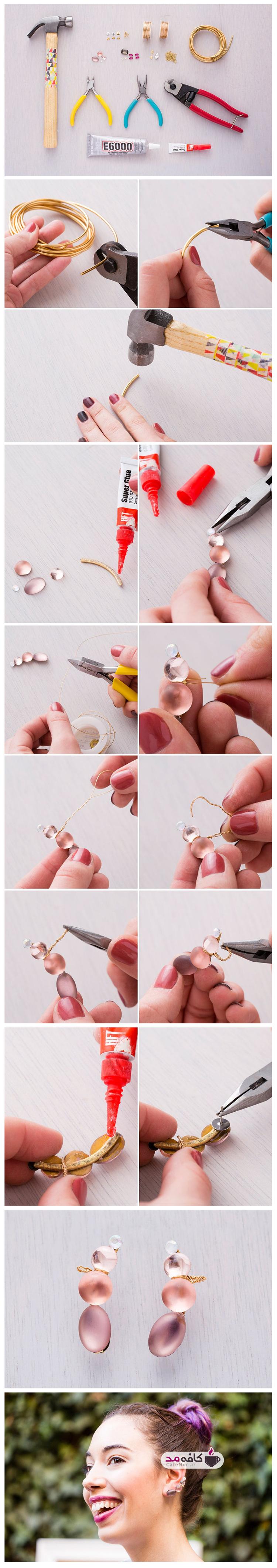 آموزش تصویری درست کردن گوشواره
