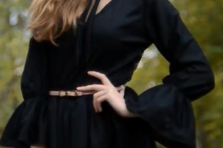 فیلم آموزش دوخت لباس پاییزه بدون الگو