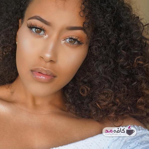 مدل آرایش پوست تیره