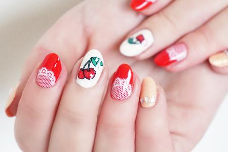 آموزش آرایش ناخن با طرح میوه و تور 1